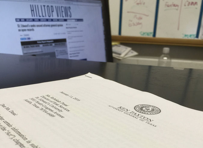 Hilltop Views sent a complaint to the Texas Attorney General Jan. 26, disputing the amount of time UPD needs to release requested police reports