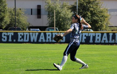 St. Edward's University softball team gains new pitching staff, works to pull it all together