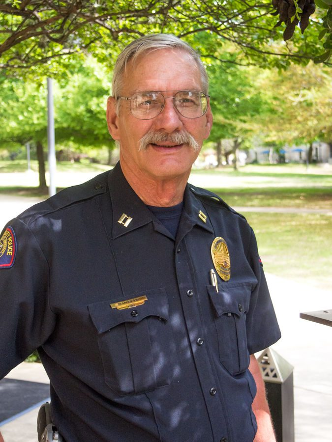 Captain Dan Beck has been a police officer at St. Edward's for nearly 30 years. He will be retiring in the summer in 2016.