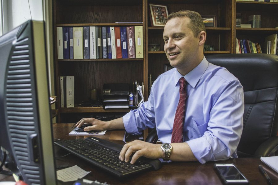 Steven Pinkenburg attended St. Edwards in the 1990s and now serves as the Dean of Students.