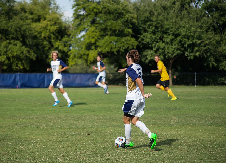 The St. Edward's University men's soccer team is 8-0 to start the season.