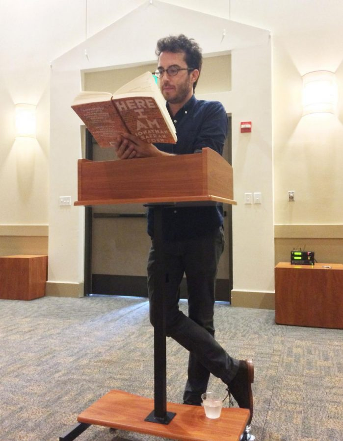 Jonathan Safron Foer reads his new book,