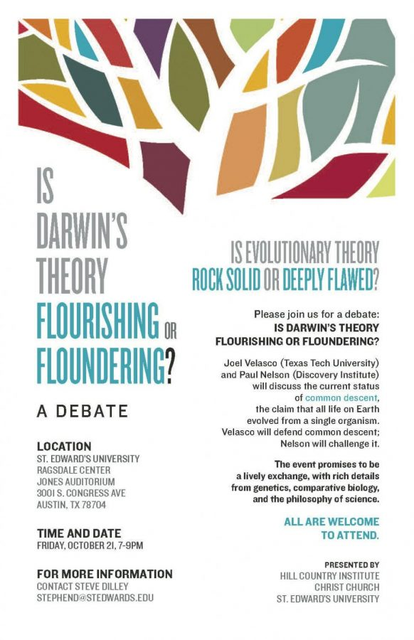Some+science+professors+voiced+objections+to+the+use+of+words+in+a+flyer+promoting+a+debate+over+evolution+on+Friday.