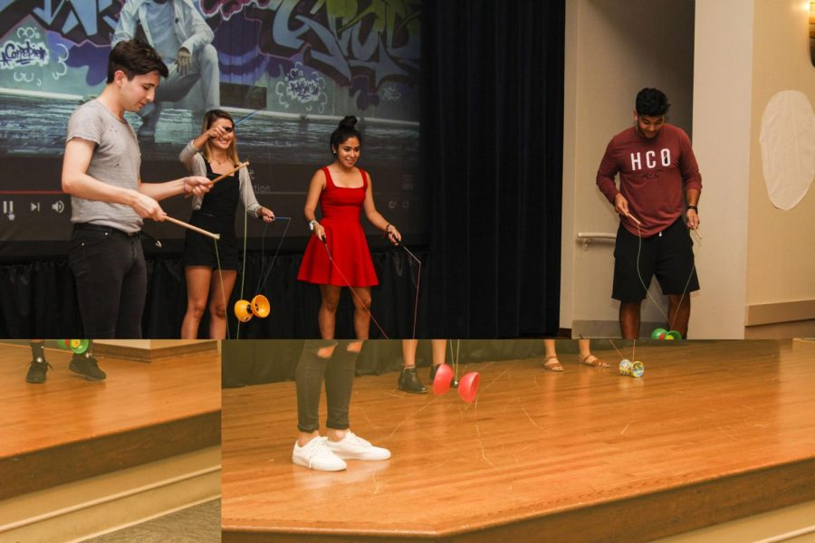 Members+of+Chinese+classes+I+and+III+demonstrate+the+Chinese+yo-yo+and+sing+a+song+for+St.+Edward%27s+University+students+gathered+to+celebrate+the+Chinese+Moon+Festival%2C+Sept.+22%2C+2016.