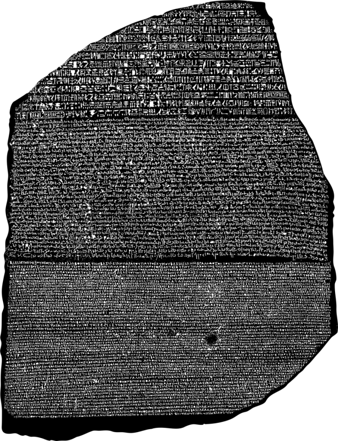The Rosetta Stone allowed for the breakthrough that allowed translation between modern languages and ancient Egyptian hieroglyphics.
