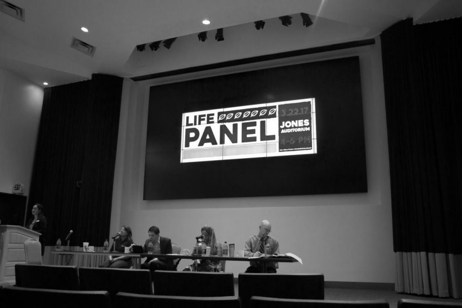 Four+pro-life+panelists+presented+secular+perspectives+on+the+issue+of+abortion%2C+the+death+penalty+and+other+topics+March+22.