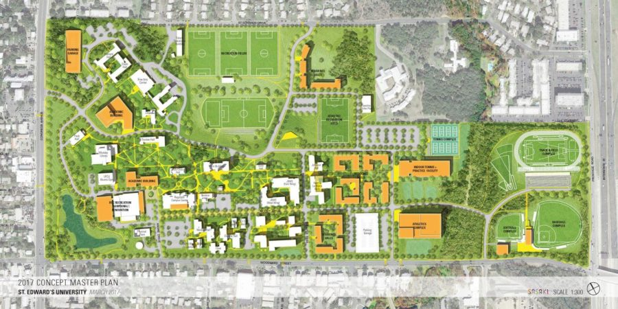 A Concept Master Plan was revealed to the campus community last week, which shows a possibility of potential ideas. The Board of Trustees will finalize a plan in September.