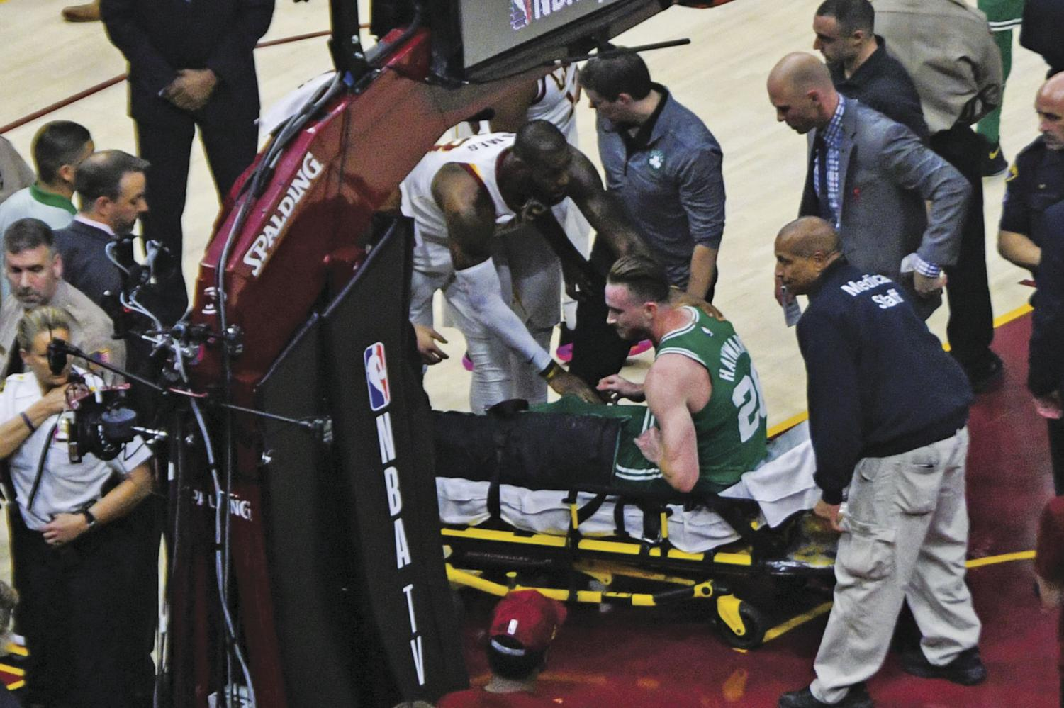 Hayward suffered a season-ending ankle injury five minutes into the season