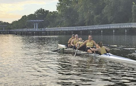 Rowing team at morning practice