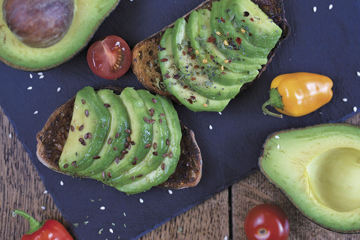 Avocados are a popular topping for healthier meals.