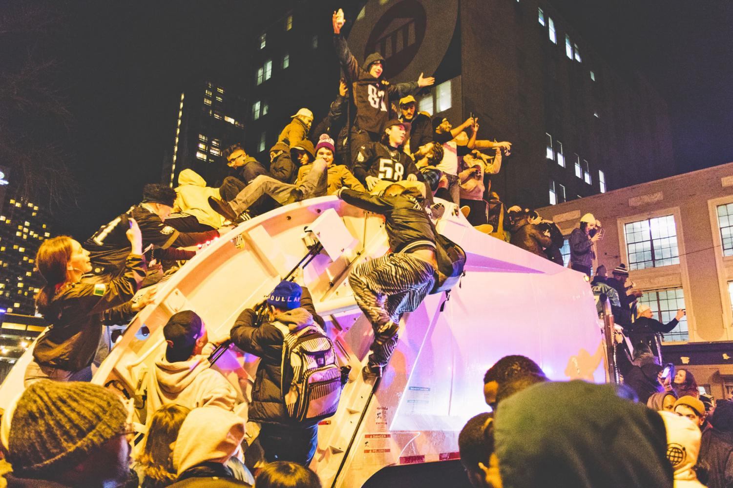 All together there were only four arrests made during the riots in Philadelphia after the Super Bowl.