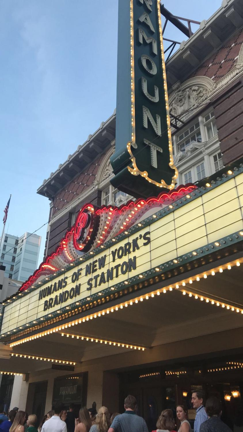 Brandon Stanton's show at Paramount Theatre sold out.