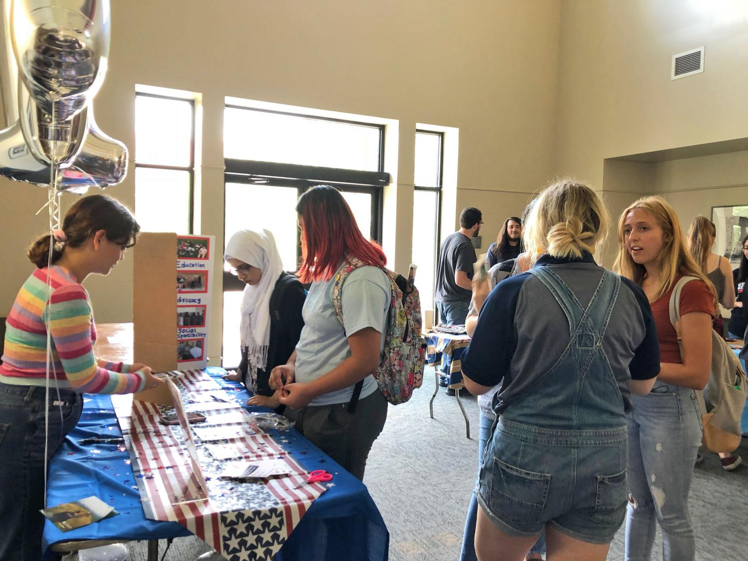 The Involvement Fair occurs twice a year to kick off a new semester.