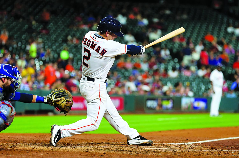 Alex Bregman batted an impressive .556 to help sweep Cleveland Indians.