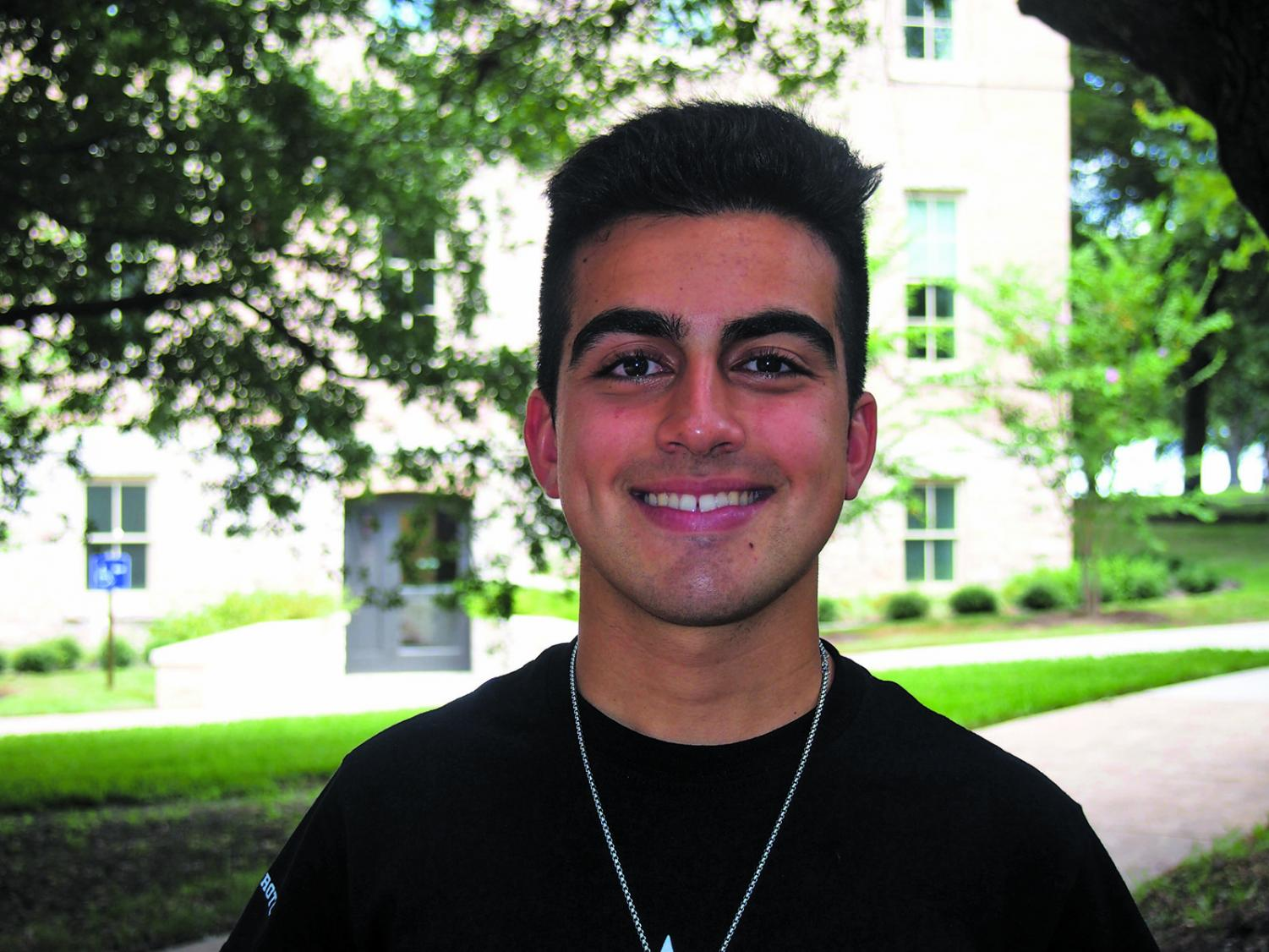Ebrahimi is a part of the University of Texas' ROTC.