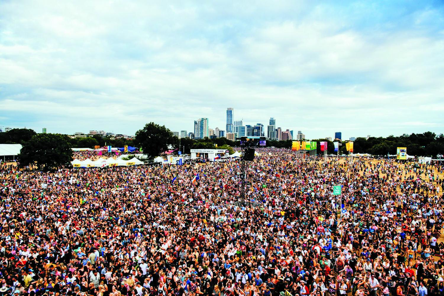 ACL Festival draws a crowd of approximately 450,000 people every year