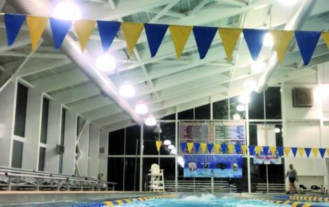 The university's pool in the Rec. Center is open to all students.