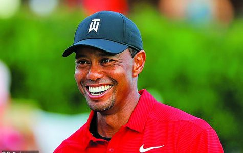 Tiger Woods smiles after his victorious run at the Tour Champion 2018.