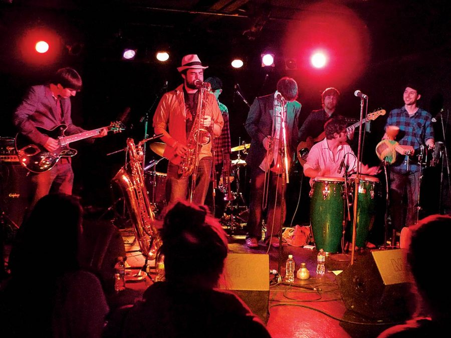Ikebe Shakedown is comprised of seven musicians that run their band democratically.