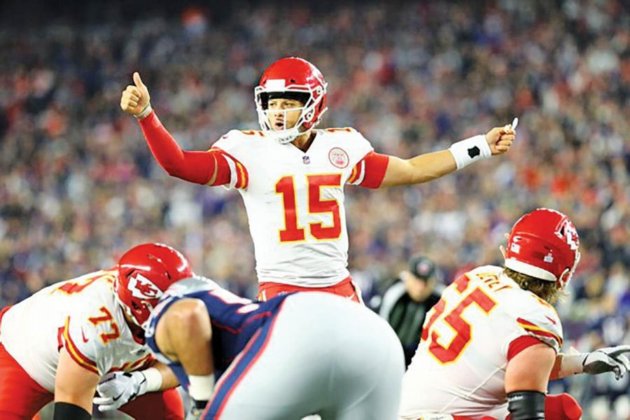 Second-year+quarterback+Patrick+Mahomes+is+a+front-runner+for+MVP.