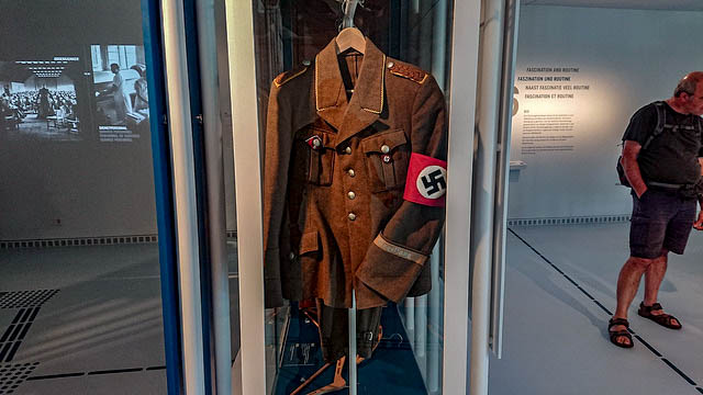 The child dressed in the Hitler costume was 5 years old.