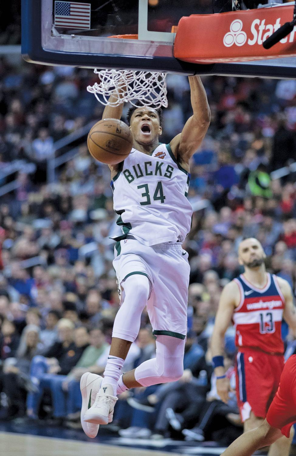 Giannis Antetokounmpo is an early favorite to win MVP.