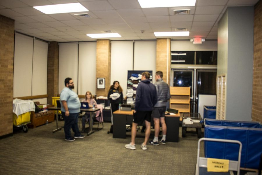 East Hall, which was previously unoccupied, was set up as a temporary residence for Pavilions students unable to return to their rooms.