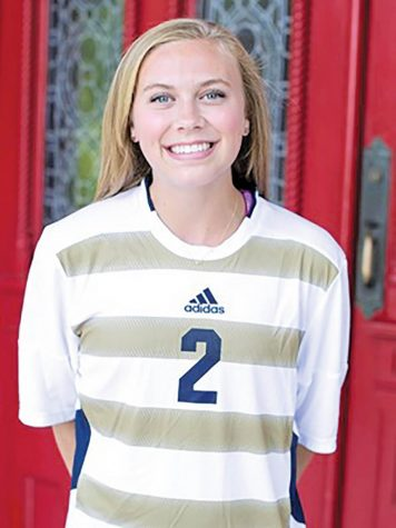 Women's soccer player earns two awards in same week