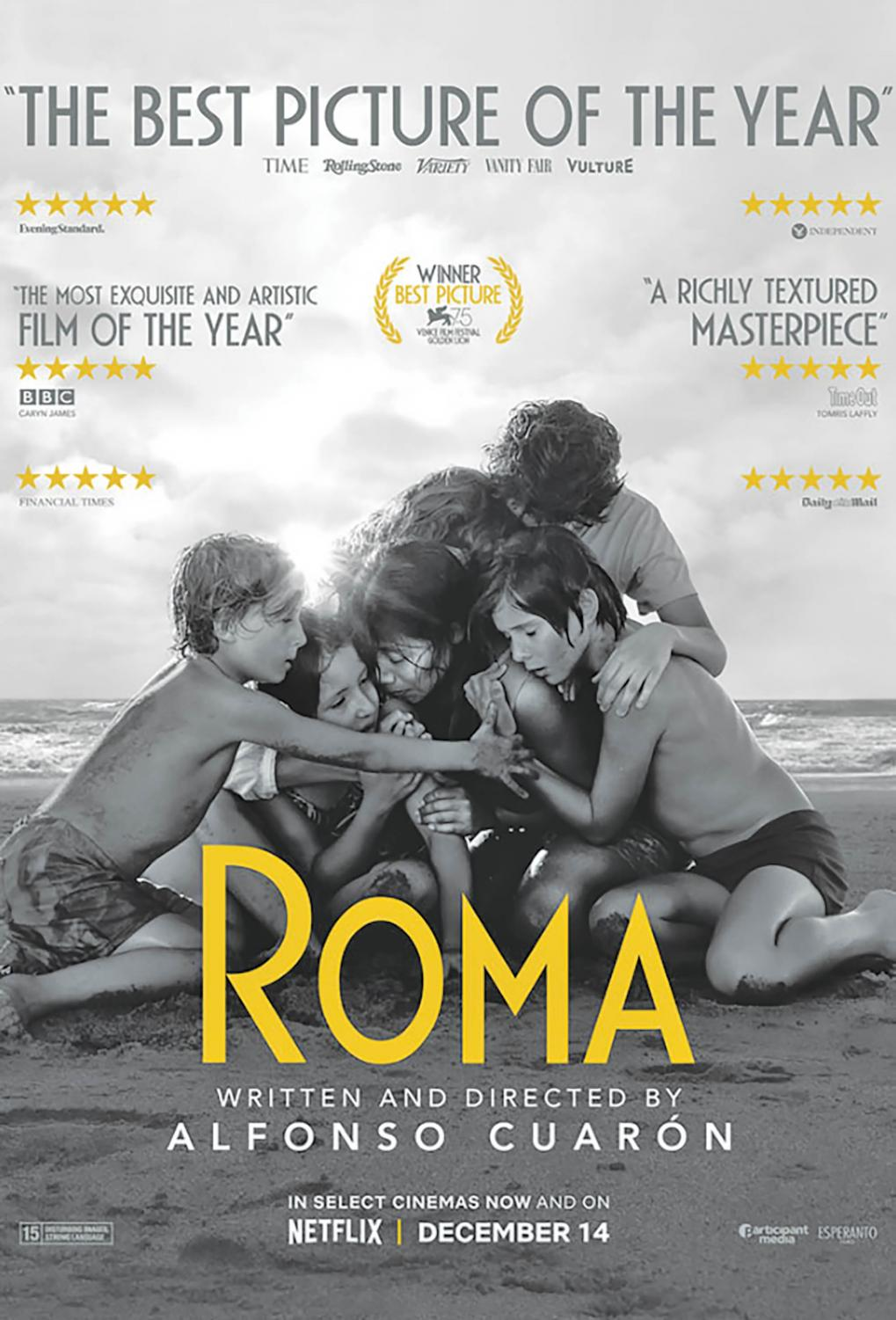 Roma is nominated for 10 Academy Awards this year.