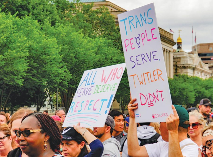 The LGBTQ+ community was outraged by the new transgender military ban implemented last Tuesday.