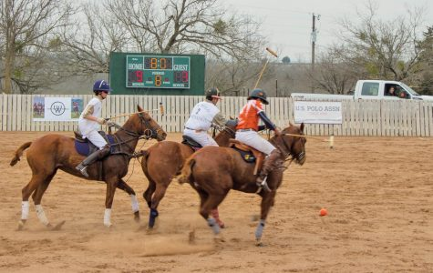 Williams Polo versus Texas Military square off in the third checker of the match.