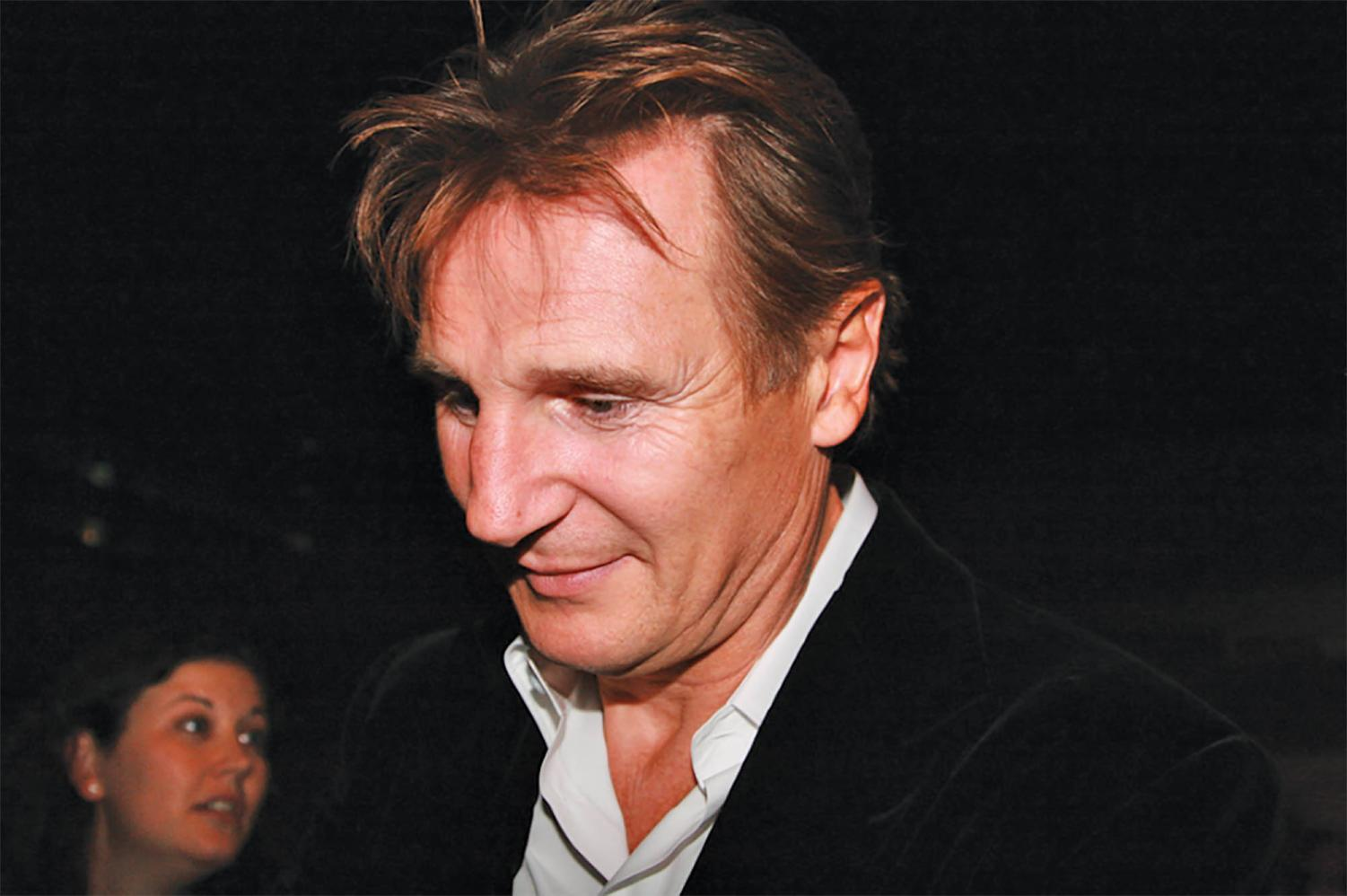 Neeson took two hour long power walks a day and talked through the issue with friends to help him.