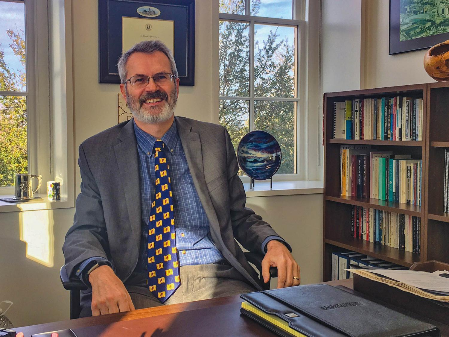 Dr. Mitchell has taught at St. Edward's for 25 years and specializes in areas of Rhetoric, Media Studies and Secular Studies.