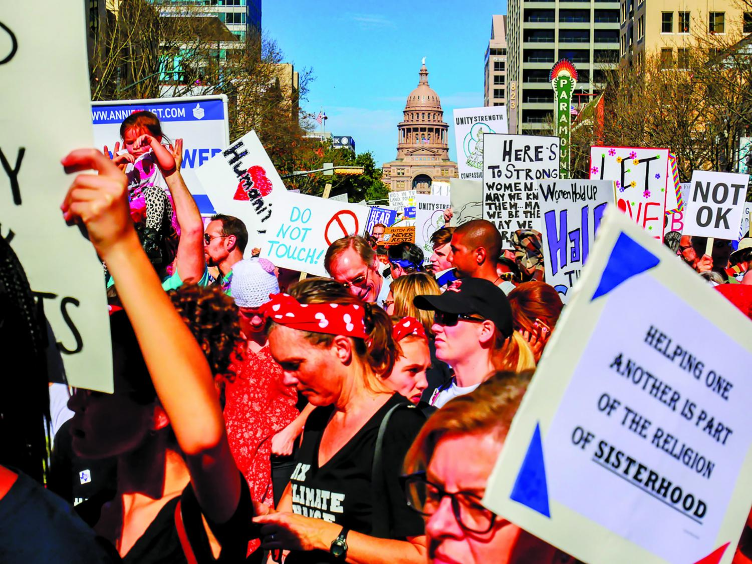 Austinites gathered for the Women's March back in 2017. The Women's March dates back to 1908 and takes place in multiple cities.