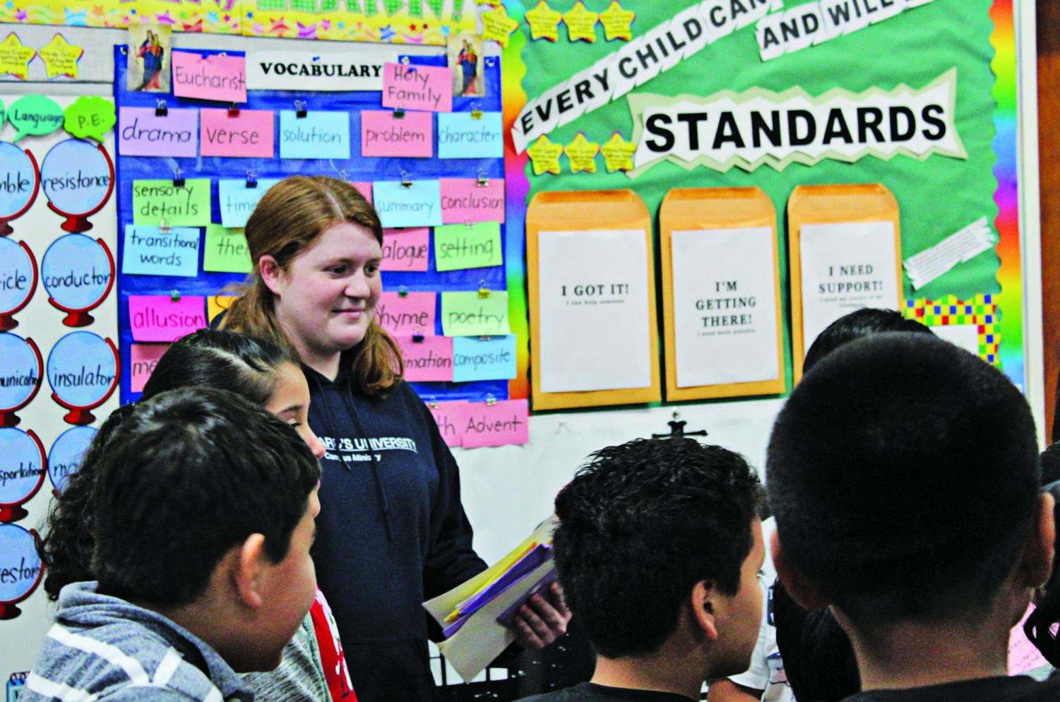 The group of SBE volunteers that went to Los Angeles, including sophomore Izzy Plant (above), aided elementary school teachers. The participants were encouraged to immerse themselves completely in their assigned locations.