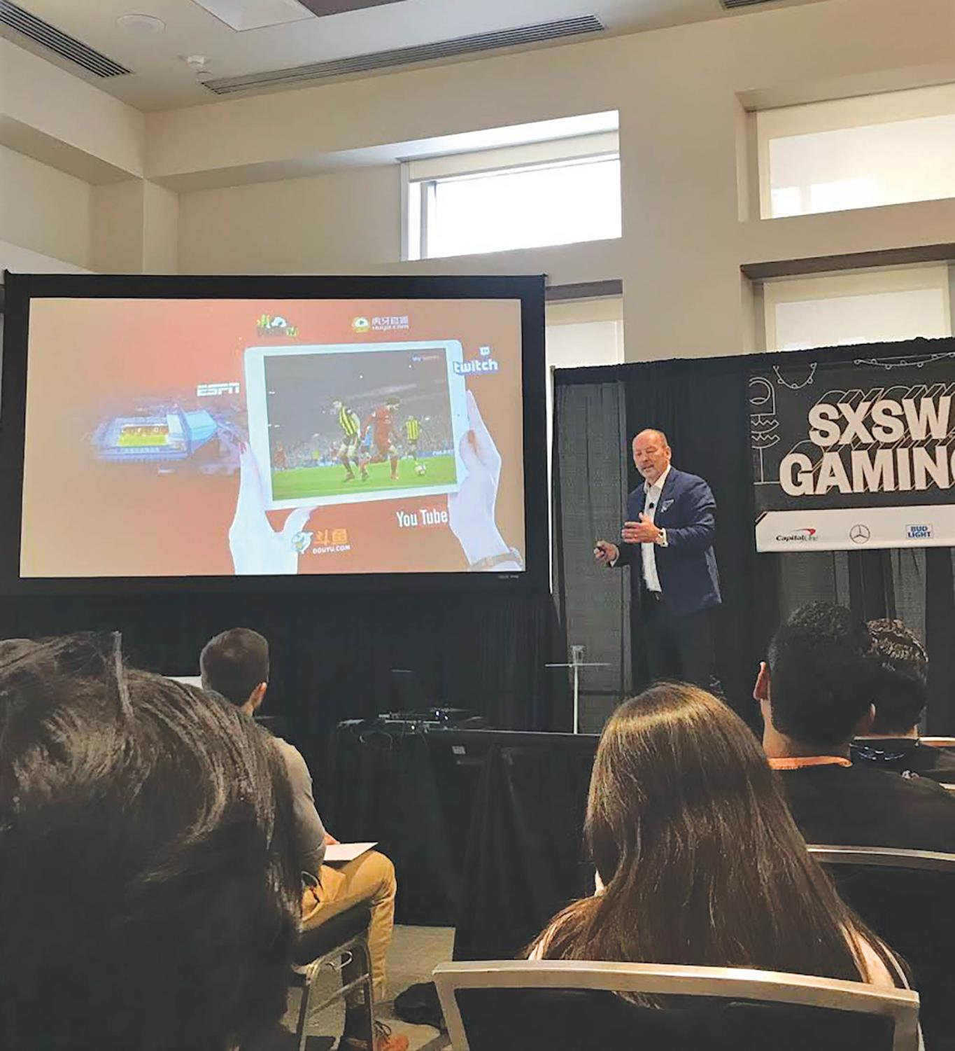 Peter Moore speaks at SXSW about the direction that sports is heading and how gaming would play a part in that.