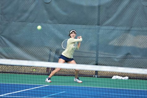 Senior tennis player follows her passion