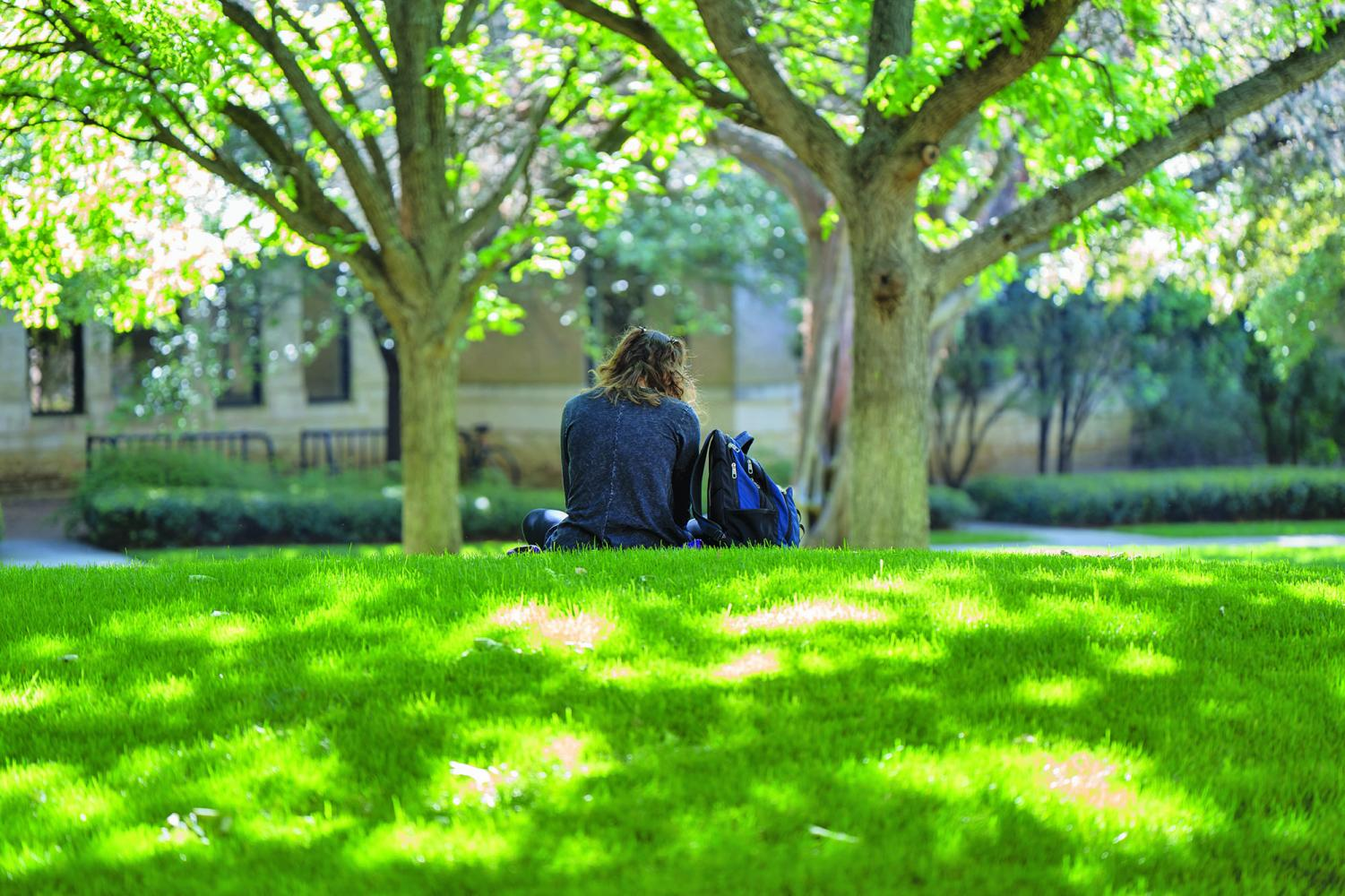 Students search for mental health resources on campus. More than 25 percent of college students have been diagnosed with a mental illness, according to the National Alliance on Mental Illness.