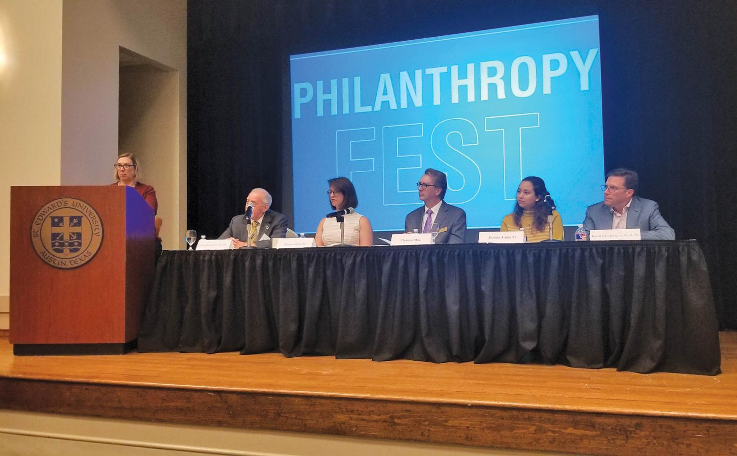 Desert with Donors consisted of a panel of donors and students. THe event was intended to inform students about various forms of philanthropy, including community service.
