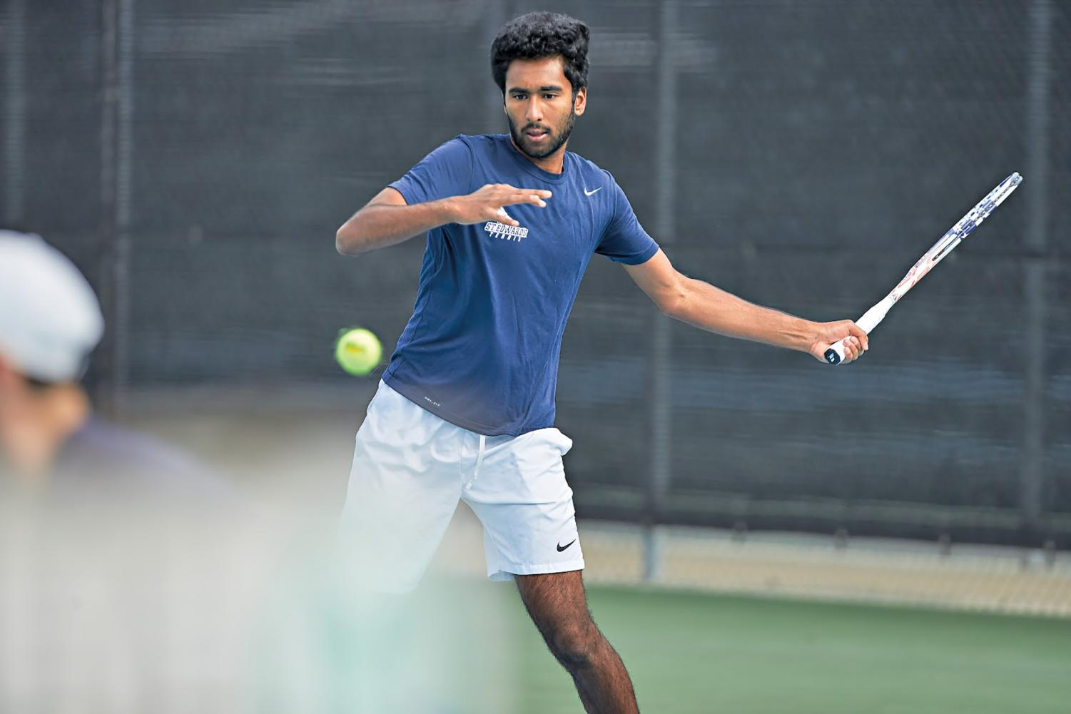In his first year at the university, Anish Sriniketh has been a major contributing factor for men's tennis' winning season.