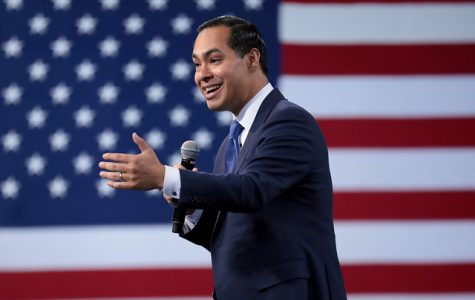 Former Secretary of Housing Julian Castro speaks at the 2019 Forum on Wages and Working People in on April 27, 2019. Castro addressed the recent deaths of migrants Oscar Martinez and his daughter Valeria, adding that incidents like this