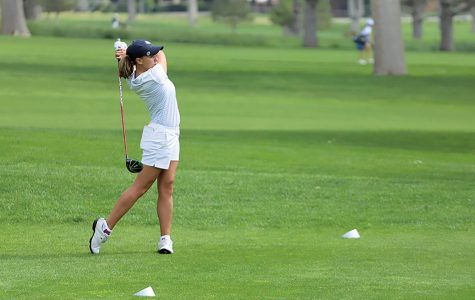 Elena Castanon helped lead St. Edward's to an eighth placement in the DBU Classic as she shot a four-under-par 68.