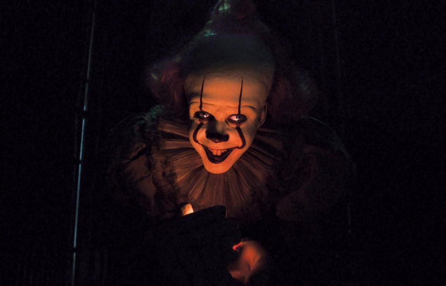 Pennywise+the+Clown+is+portrayed+by+Bill+Skarsg%C3%A5rd+in+both+%22IT%22+movies.+%22IT+Chapter+Two%22+premiered+in+theaters+on+Sept.+6