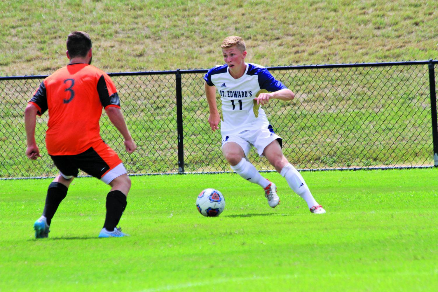 Senior Matt Parker hopes to continue balancing his athletic and academic excellence this season.