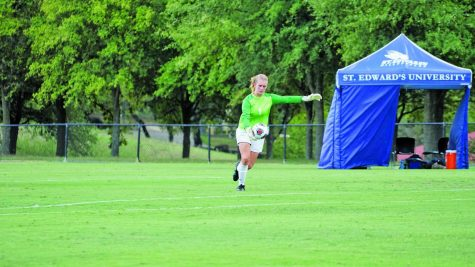Goalkeeper Annabel Sweeney prepares to be a major defensive presence for the upcoming women's soccer season.