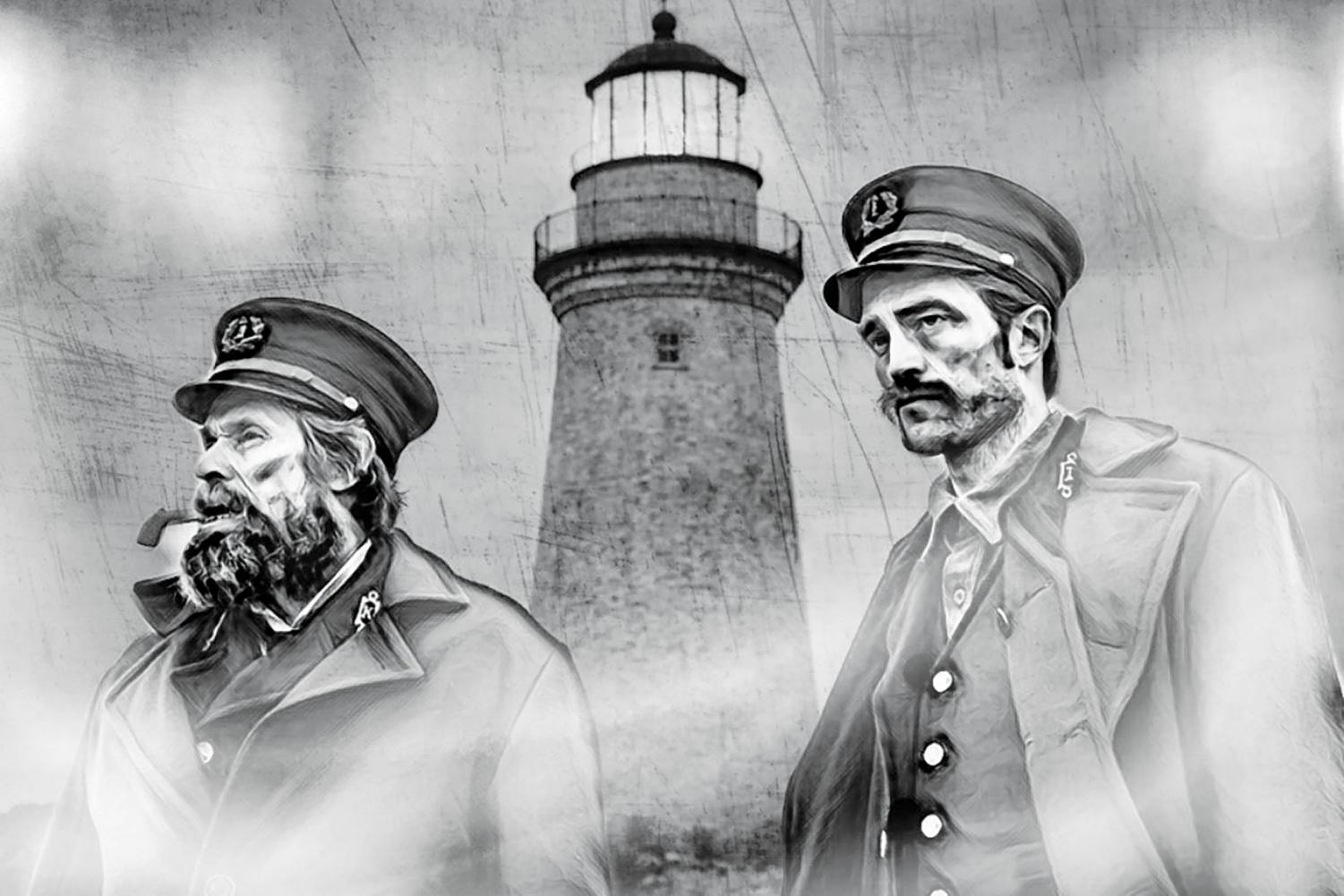 Willem Dafoe (left) and Robert Pattinson (right) star in 'The Lighthouse,' a psychological thriller. The film was released on Oct. 18.
