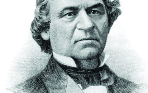 Andrew Johnson became president after President Abraham Lincoln was assassinated in 1865.  He was impeached three years later and was one vote shy of being convicted in Senate.