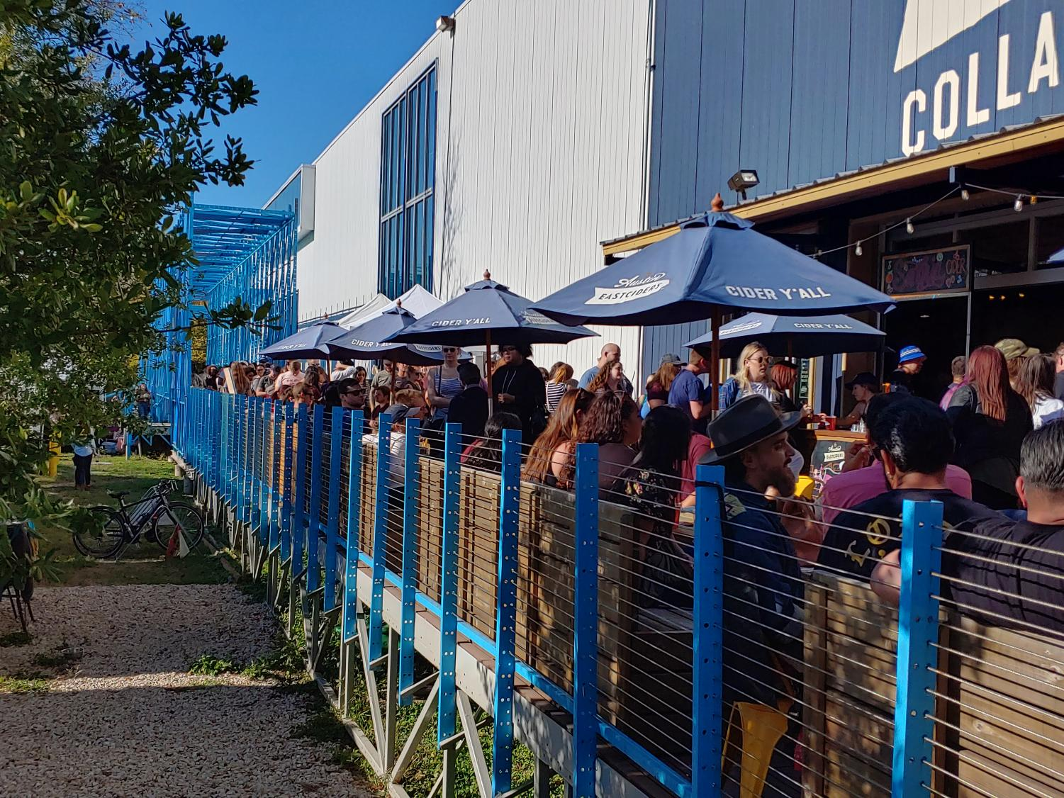 Austinites lined up around the building to get a taste of the new Sangria flavor from Austin Eastciders. Pick a six pack up at a store near you.