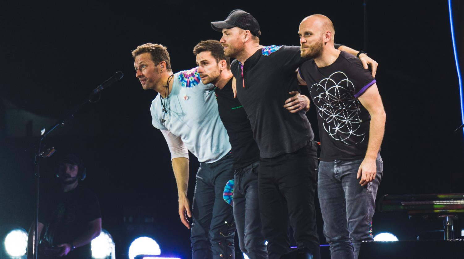 Coldplay performs at the 2017 Rose Bowl. 'Everyday Life' has had 4,000 chart sales, according to Billboard.