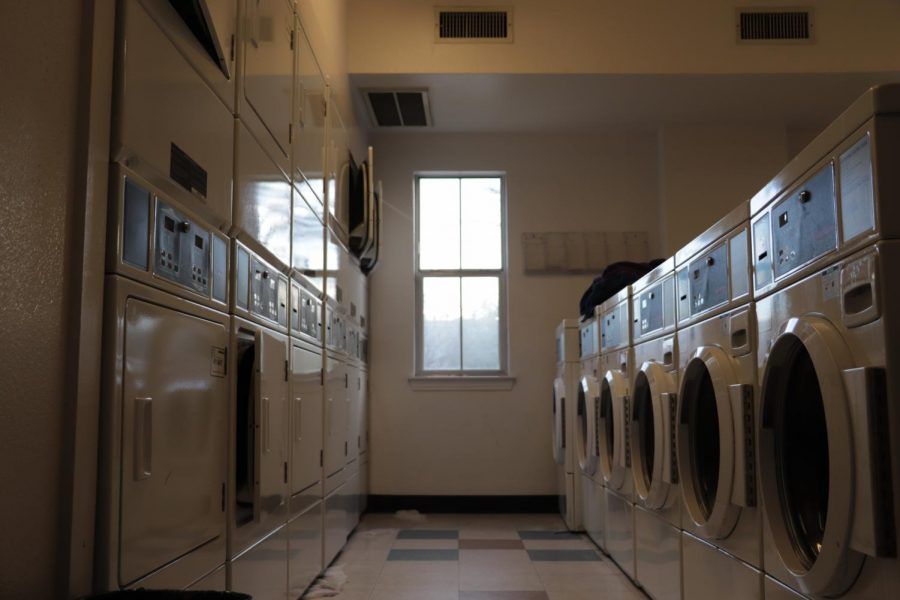 The on-campus apartments have two separate laundry rooms on either end of the apartments. This the Community Building 1 laundry room, where Davidson entered through a window and stole clothes, primarily women's underwear.
